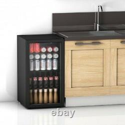120 Can Beverage Mini Refrigerator with Glass Door