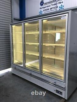 2.2m Deep Verco 3 door display freezer Frozen commercial catering shop Ice