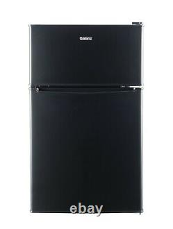 3.1 Cu ft Two Door Mini Fridge with Freezer Estar, Black