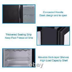 43L/63L/83L Mini Refrigerator Glass Door Desktop Cooler Ice Box Freezer kitchen
