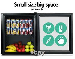 46L BEDROOM Glass Door Bar Fridge Mini Countertop CHILLER Bottle Cooler