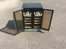 60cm Double Door Dual Zone Under Counter Wine Cooler 40 Bottles Capacity