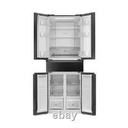 American Style Fridge Freezer Hoover HN5D72B 5 DOORS BOXED AND UNUSED