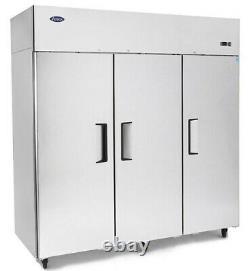 Atosa YBF9238 Triple Door Display Top Mount Commercial Fridge Freezer