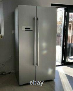 Bosch Fridge American Style Double Door Grey Silver