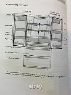 Brand New Bertazzoni fridge freezer, artisan chefs fridge, French doors REF90X