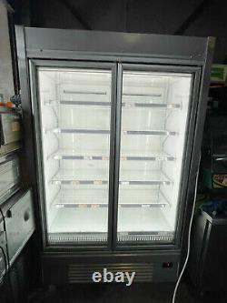 Carter Upright Double Door Extra Large Commercial Glass Door Freezer