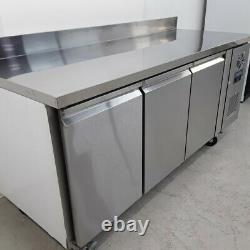 Commercial Bench Freezer 3 Door Prep Counter Service Polar DL917