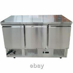 Commercial Bench Fridge 3 Door Triple Chiller Prep Diaminox ESL3851