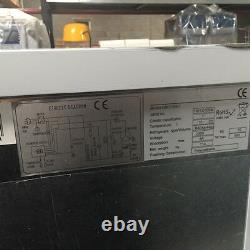 Commercial Triple 3 Door Refrigerated Steel Counter Freezer With Steel Work Top