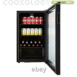 Cookology BC96BK 48cm Glass Door Beverage Cooler in Black