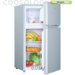 Cookology Silver Fridge Freezer UCFF87SL 47cm Freestanding Undercounter 2 Door