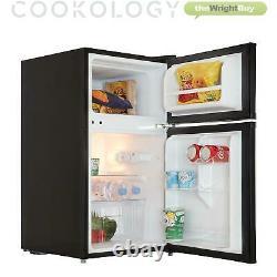Cookology UCFF87BK 47cm Freestanding Undercounter 2 Door Fridge Freezer in Black