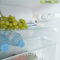 Cookology UCFF87WH 47cm Freestanding Undercounter 2 Door Fridge Freezer in White