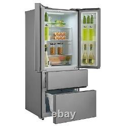 ElectriQ 70cm French Door Fridge Freezer in Stainless Steel