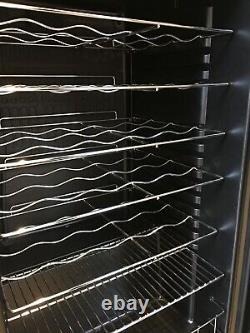 EuropAce EWC311 Wine Cooler, Drinks Fridge, Under Counter, Glass Door, Black