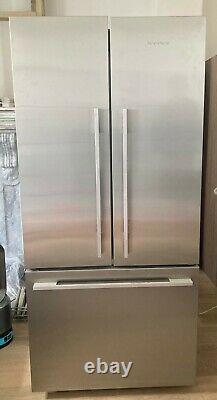Fisher and paykel freestanding, Silver, two door fridge with freezer draws