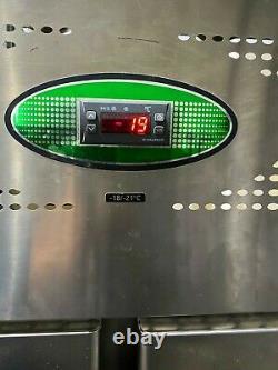 Foster Commercial double door freezer for shop takeaway restaurant