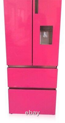 French style slim Pink shade range 4 door fridge freezer Bespoke colour