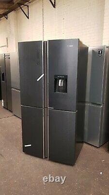 HISENSE RQ689N4WF1 American style Fridge Freezer Black Steel four door
