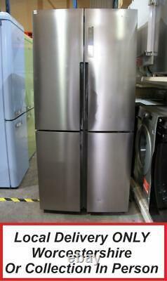 Haier HTF-556DP6 Stainless Steel Silver 4-Door American Fridge Freezer PFA AO