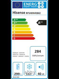 Hisense RF540N4SBI2 French Door Kühl-/Gefrierkombination edelstahl look EEK A++