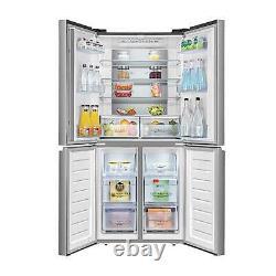Hisense RQ563N4AI1 Stainless Steel 4-Door 432L American Style Fridge Freezer