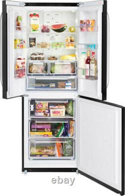 Hotpoint Day 1 FFU3DK Black 70cm 3 Door Total No Frost Fridge Freezer