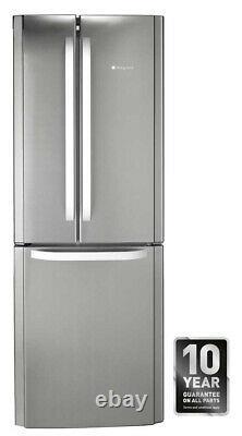 Hotpoint Day 1 FFU3DX1 Stainless Steel 70cm 3 Door No Frost Fridge Freezer
