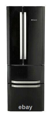 Hotpoint Day 1 Quadrio FFU4DK Black 70cm 4 Door No Frost Fridge Freezer