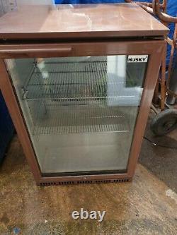 Husky single door bar fridge 895mm high man cave workshop in used condition