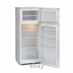 IceKing Modern Free Standing 2-Door Fridge Freezer White FF218W. E