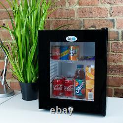 IceQ 24 Ltr Black Glass Door Mini Bar Fridge With Lock, Hotels, B&B, Bedrooms