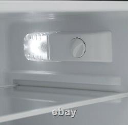 Iceking IK2023K 48cm Freestanding 2 Door Under Counter Fridge Freezer Black