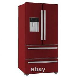 KFD4952XD American Style Four Door Fridge Freezer Bespoke cranberry red
