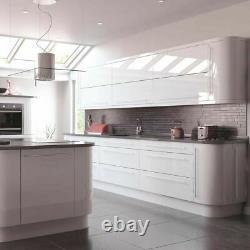 Kitchen Fridge Freezer Housing Unit VIVO SLAB GLOSS WHITE (18mm, PAINTED)
