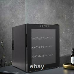 LED 50L Wine Drinks Beer Fridge Cooler Single Door Undercounter 16 Bottle, Black