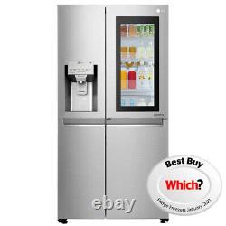 LG Door In Door Instaview American Fridge Freezer Non Plumbed STAINLESS STEEL