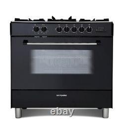 MR91DFMK 900mm Dual Fuel Range Cooker 5 x Burner Hob Black