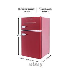 Magic Chef 2 Door Mini Fridge Indoor Kitchen Compact Refrigerator Can Dispenser