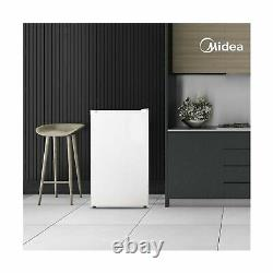 Midea Compact Upright Freezer Single Reversible Door 3.0 Cubic Feet White New