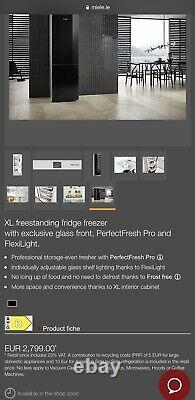 Miele KFN 29683 D obsw XL Fridge Freezer