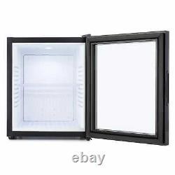 Mini Fridge Refrigerator Drinks Cooler Bar Hotel Glass Door 32 L 1 Shelf Black