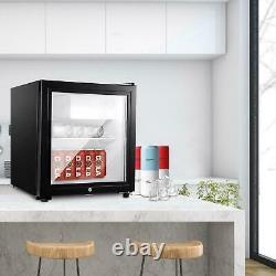 Mini refrigerator black 50liters beer wine beverage refrigerator with glass door