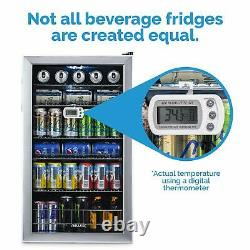 NewAir Beverage Cooler and Refrigerator Mini Fridge with Glass Door Perfect f