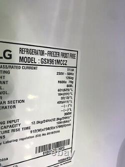 New LG Instaview Door-In-Door American Style Fridge Freezer Matte Black RRP£1899