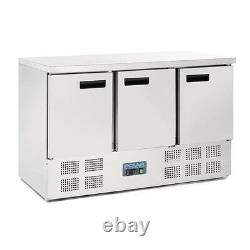 Polar 3 Door Counter Refrigerator 368 Litre 880 x 1370 x 700mm Commercial