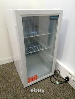 Polar C-Series CF750 Under Counter Display Fridge White 88L Glass Door Cooler