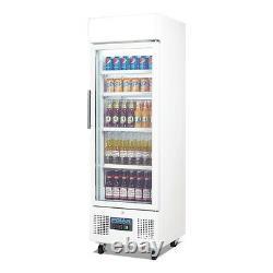 Polar Display Fridge 218 Litre White Finish Glass Door Commercial Refrigerator