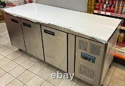 Polar G600 417 Ltr 3 Door Freezer Prep Counter